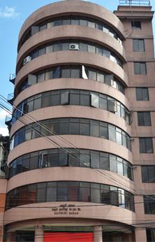 Large city building