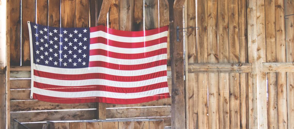 Flag on Barn