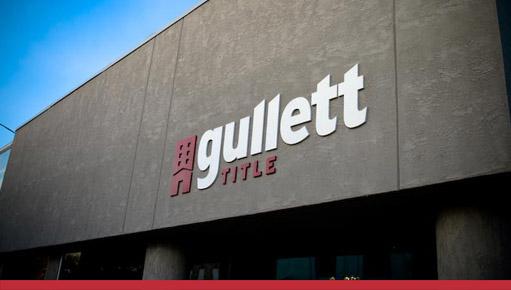 Gullett Title Building Sign