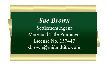 Sue Brown Info card