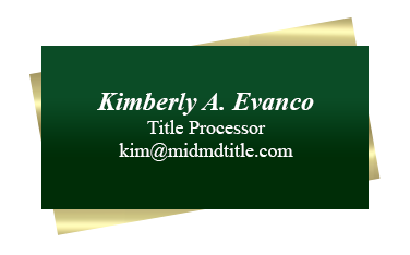 Kimberly Info card