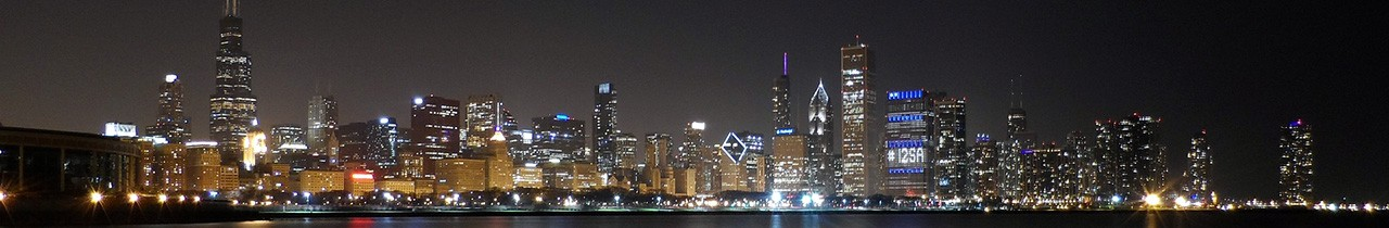 Panoramic view of the city at night