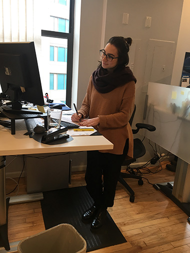 Sit to stand desks for a more efficient work environment!